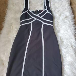 Sexy Black and White Mini Dress
